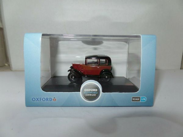 Oxford 76ASS003 ASS003 1/76 OO Scale Austin 7 Seven RN Saloon Maroon